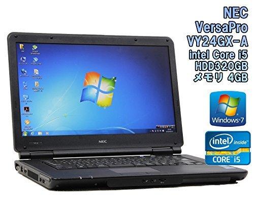B#【中古】【ノートパソコン】NEC VersaPro VY24GX-A Windows7 15.6インチ Core i5 M520 2.40GHz メモリ4GB HDD320GB【※無線LAN…