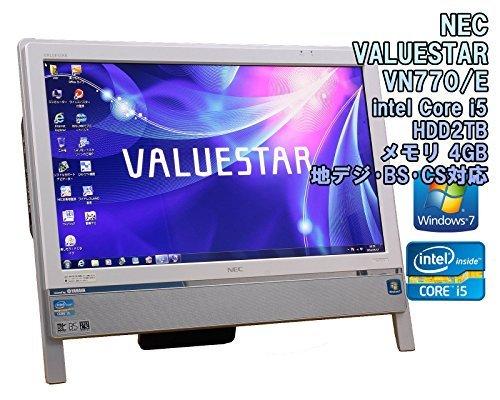 B#【中古】【地デジ・・BS・CS対応!一体型パソコン】NEC VALUESTAR N VN770/E Windows7 Core i5-2410M 2.3GHz メモリ4…