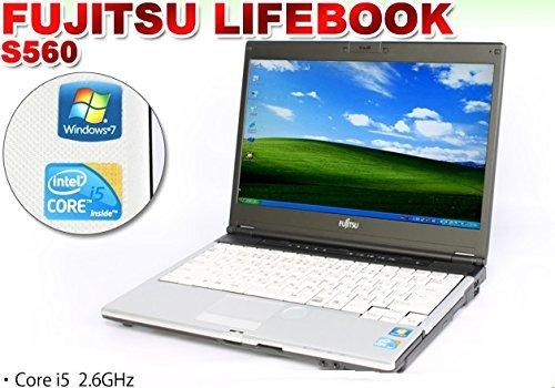 B#【中古】 ノートパソコン 14インチ液晶FUJITSU LIFEBOOK S560B 【Windows7 搭載】【無線LAN内蔵】【Core i5搭載】【メモリー2GB搭…
