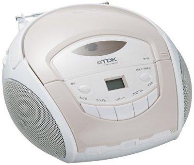 TDK LoR ポータブルCDラジオ ホワイト SP-CD8211WH【中古品】