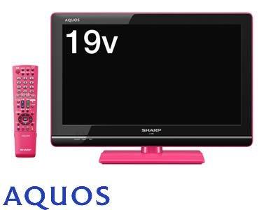 M#【中古】SHARP 19型 ハイビジョン 液晶テレビ ピンク AQUOS LC-19K5-P