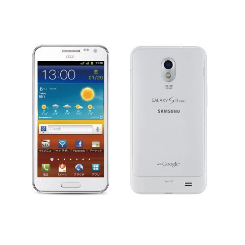 M#【中古】au GALAXY S2 WiMAX ISW11SC by SAMSUNG  ホワイト 白ロム携帯 標準セット品