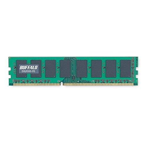 E#【中古】BUFFALO PC3-10600(DDR3-1333)対応 240Pin用 DDR3 SDRAM DIMM 2GB D3U1333-2G