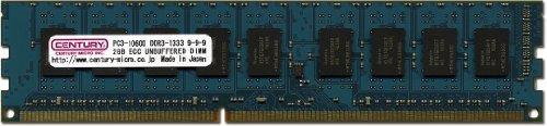 E#【中古】センチュリーマイクロ サーバー/ワークステーション用 PC3-10600/DDR3-1333 2GB ECC 240pin DIMM CD2G-D3UE13…