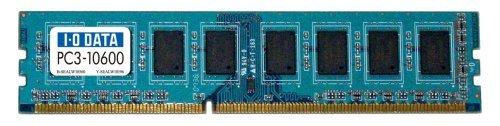 E#【中古】I-O DATA PC3-10600(DDR3-1333)対応 240ピン DIMM 2GB DY1333-2G