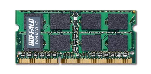 E#【中古】BUFFALO PC3-10600(DDR3-1333)対応 204Pin用 DDR3 SDRAM S.O.DIMM4GB D3N1333-4G