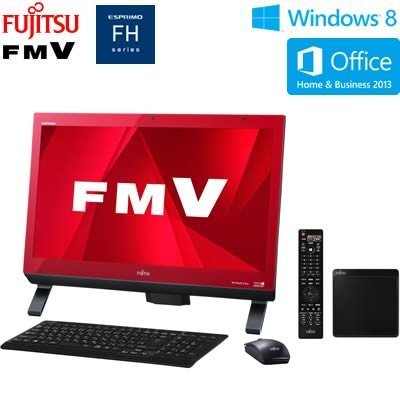 N#【中古】富士通 デスクトップパソコン FMV FH56/KD(Office Home and Business) FMVF56KDR