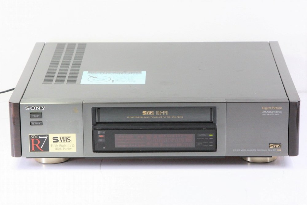SONY SLV-R7 S-VHS ビデオデッキ 【中古整備品】