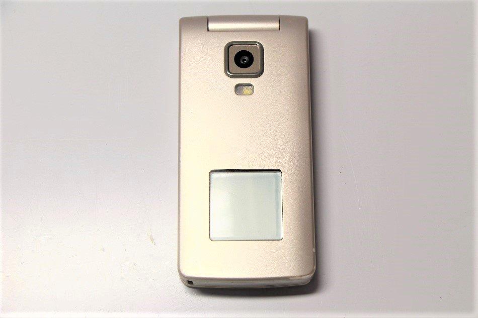 京セラ au 簡単ケータイ K003 (KY003) ゴールド 携帯電話 白ロム