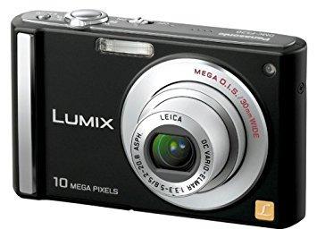 Panasonic デジタルカメラ LUMIX (ルミックス) ブラック DMC-FS20-K【中古品】