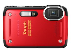 OLYMPUS デジタルカメラ STYLUS TG-625 レッド 1200万画素 裏面照射型CMOS 防水5m 耐落下衝撃1.5m【!中古品…