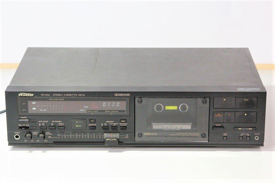 Victor ビクター TD-V66 3ヘッド ステレオカセットデッキ 1985年製【整備品】