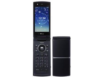au T008 カクテルブラック 携帯電話 白ロム【!中古品!】