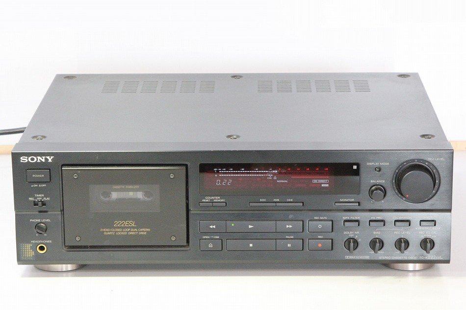 SONY TC-K222ESL カセットデッキ ソニー 【中古整備品】
