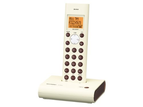 シャープ デジタルコードレス電話機 親機のみ ホワイト系 JD-S05CL-W【中古品】