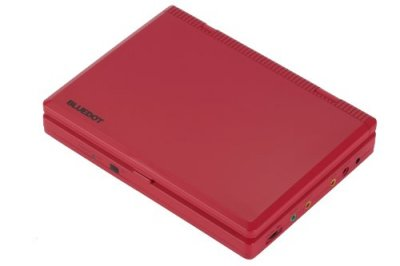 BLUEDOT 7型液晶 ポータブルDVDプレーヤー BDP-1715R レッド (CPRM対応)【中古品】