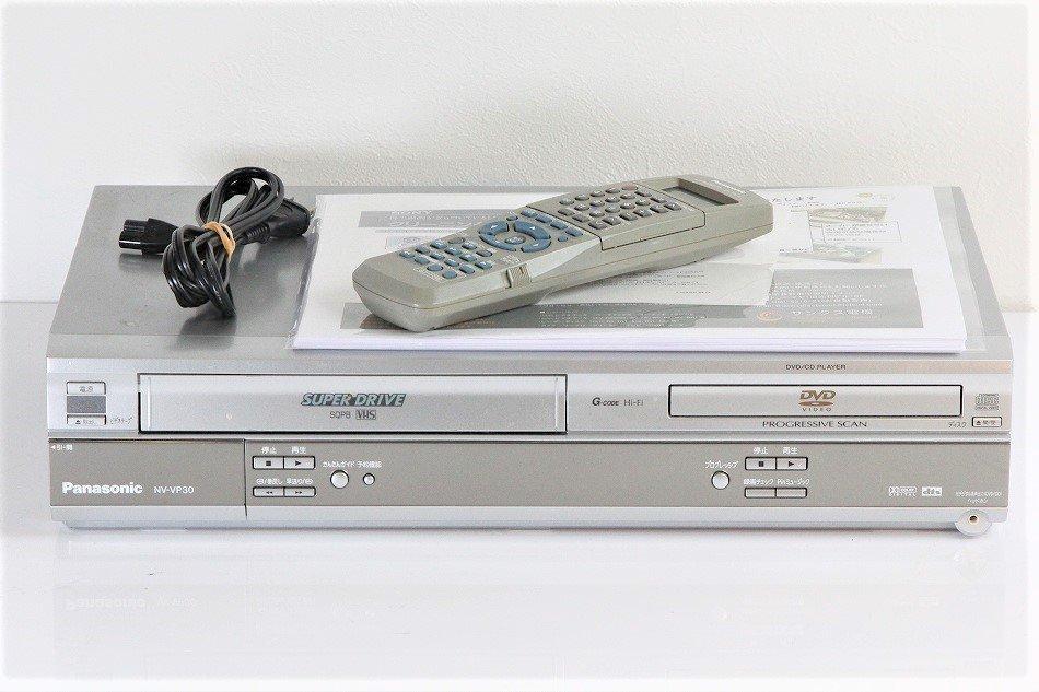パナソニック DVDプレーヤー VHSビデオ一体型 NV-VP30 【中古品】
