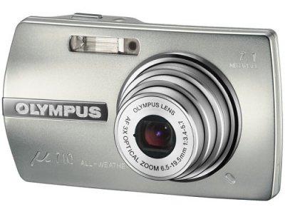 OLYMPUS デジタルカメラ μ710 プラチナシルバー μ710SLV【中古品】