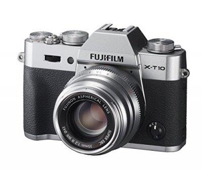 FUJIFILM ミラーレス一眼 X-T10 レンズキット シルバー X-T10LK35F2-S【中古品】