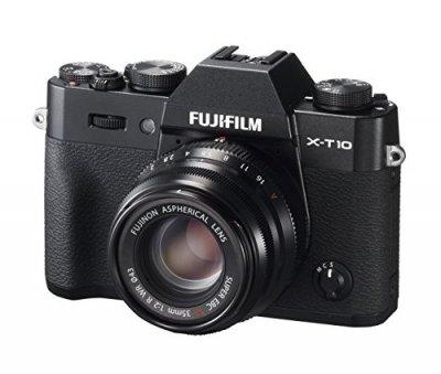 FUJIFILM ミラーレス一眼 X-T10 レンズキット ブラック X-T10LK35F2-B【中古品】
