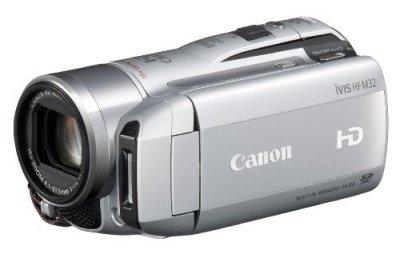 Canon デジタルビデオカメラ iVIS HF M32 スノーシルバー IVISHFM32SL【中古品】