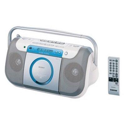 SONY CDラジオカセットコーダー(ブルー) CFD-E100TV(L)【中古品】