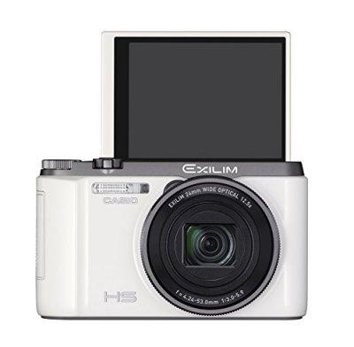 CASIO デジタルカメラ EXILIM EXZR1100WE 自分撮りチルト液晶 1610万画素 光学12.5倍ズーム EX-ZR1100WE ホワイト【中古品】