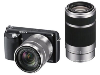 ソニー デジタル一眼カメラ「NEX-F3」ダブルレンズキット(ブラック)SONY NEX-F3 NEX-F3Y-B【中古品】