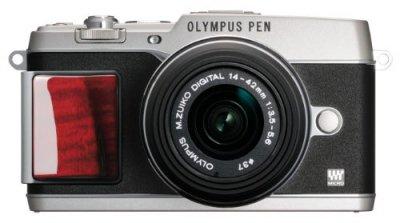OLYMPUS ミラーレス一眼 PEN E-P5 14-42mm レンズキット(ビューファインダー VF-4セット) プレミアムモデル E-P5 14-42mm LKIT SLV PR【中古品】