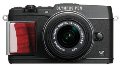 OLYMPUS ミラーレス一眼 PEN E-P5 14-42mm レンズキット(ビューファインダー VF-4セット) プレミアムモデル E-P5 14-42mm LKIT BLK PR【中古品】