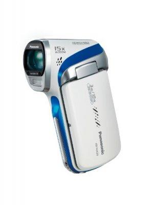 【N】パナソニック デジタルムービーカメラ 防水仕様 マリンホワイト HX-WA20-W【中古品】