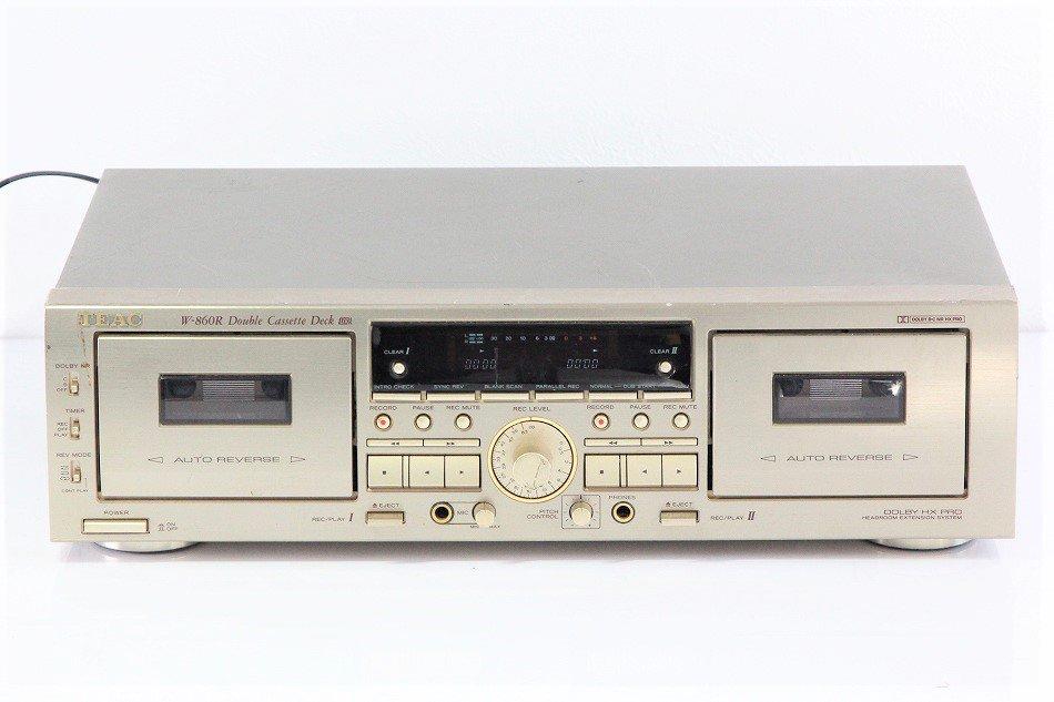 TEAC カセットデッキ ゴールド W-860R-N 【中古整備品】