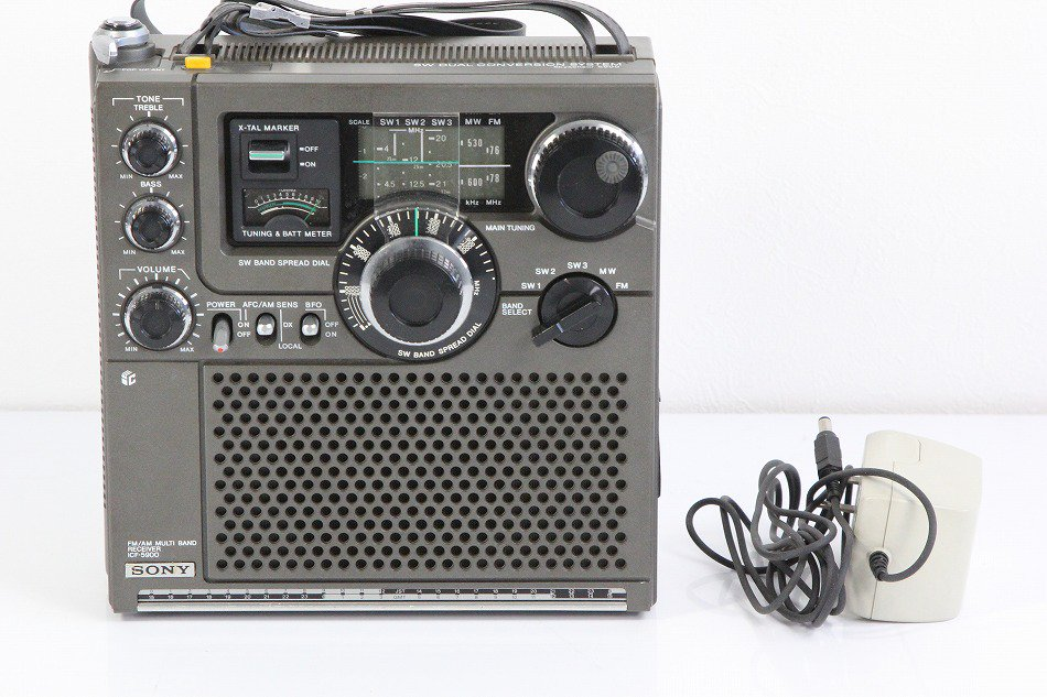 SONY ICF-5900 スカイセンサー 5バンドマルチバンドレシーバー FM/MW/SW1/SW2/SW3 (FM/中波/短波/BCLラジオ)【中古整備品】