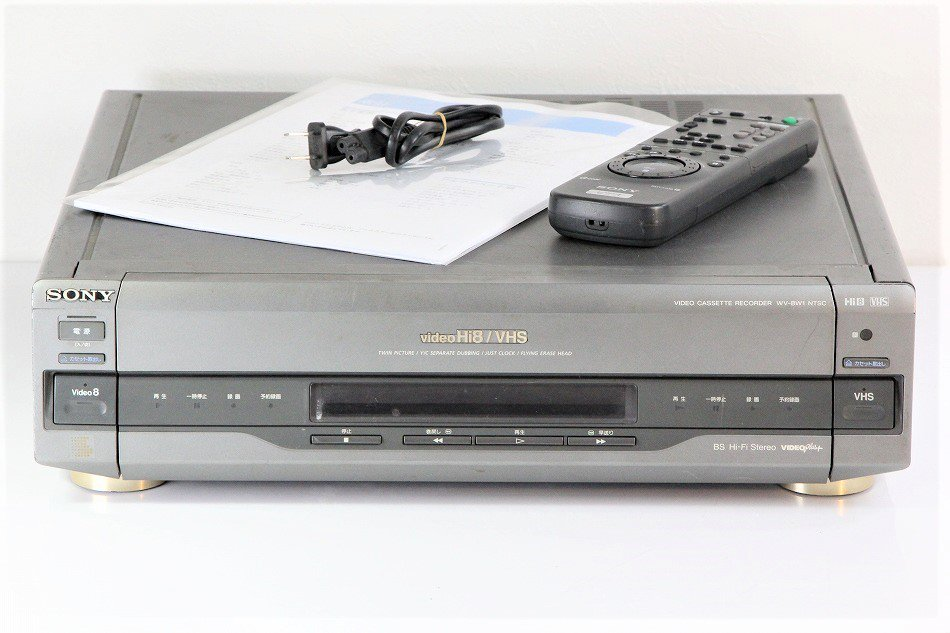 SONY WV-BW1 Hi8/VHS ビデオデッキ 【中古整備品】