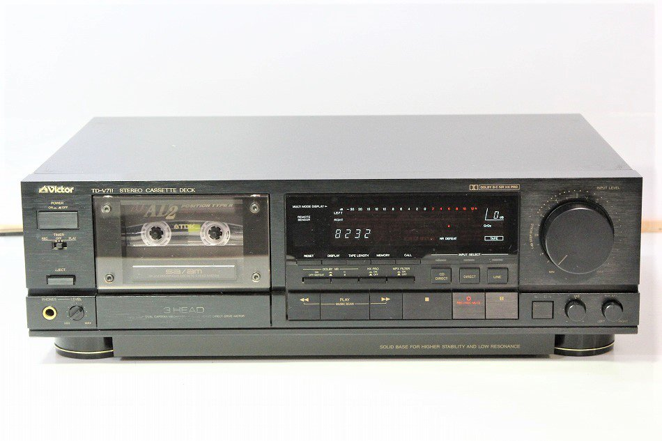 Victor ビクター TD-V711 3ヘッドカセットデッキ 1987年製 【中古整備品】