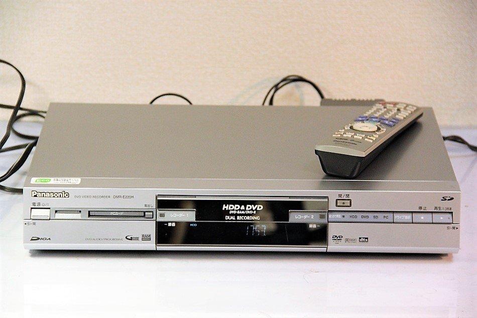 Panasonic DIGA DVDビデオレコーダー 160GB HDD内蔵 DMR-E220H【中古品】