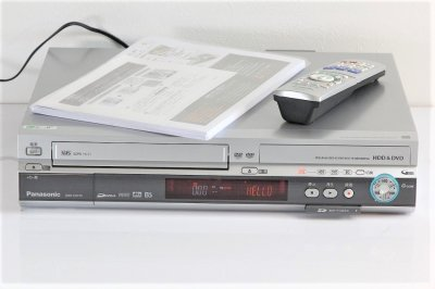 Panasonic DIGA DMR-EH73V DVD/HDDレコーダー HDD+DVD+VHS+SDの1台4役 【中古品】