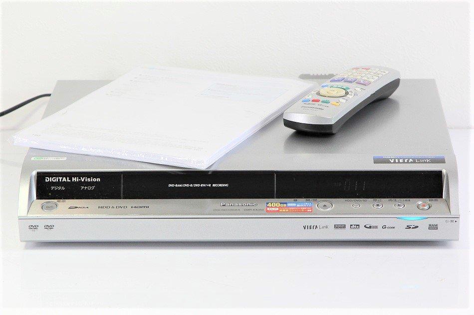 Panasonic DIGA 地上・BS・110度CSデジタルチューナー搭載ハイビジョンレコーダー 400GB DMR-EX350【中古…