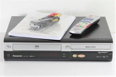 Panasonic DIGA ハイビジョンレコーダー VHSビデオ一体型 HDD250GB DMR-XW200V 【中古品】