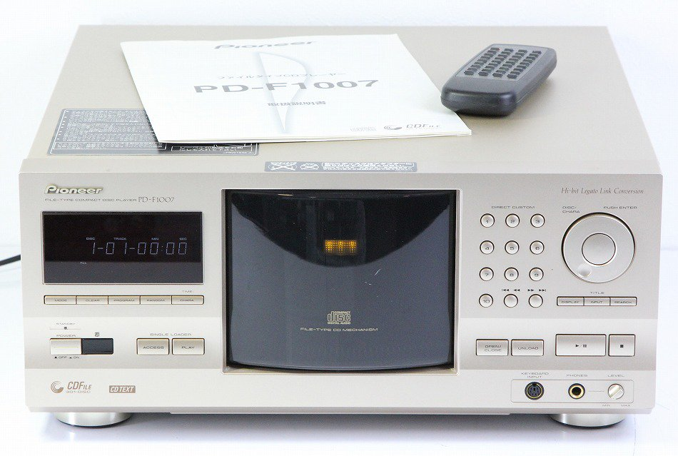 Pioneer 301枚ファイルタイプCDプレイヤー PD-F1007