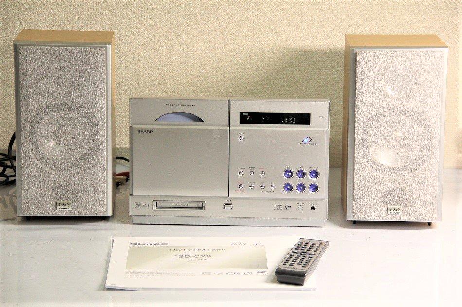 SHARP アウビィ SD-CX8 MDコンポ 【中古品】