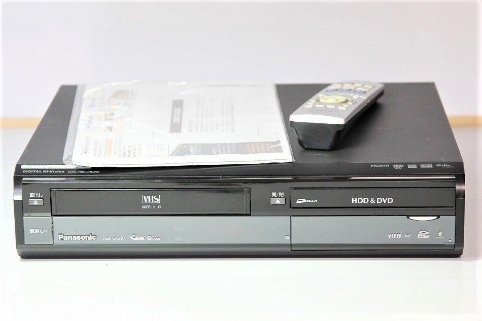 Panasonic DIGA 地上・BS・110度CSデジタルチューナー搭載ハイビジョンレコーダー VHSビデオ一体型 500GB DMR-XW41V-K 【中古…