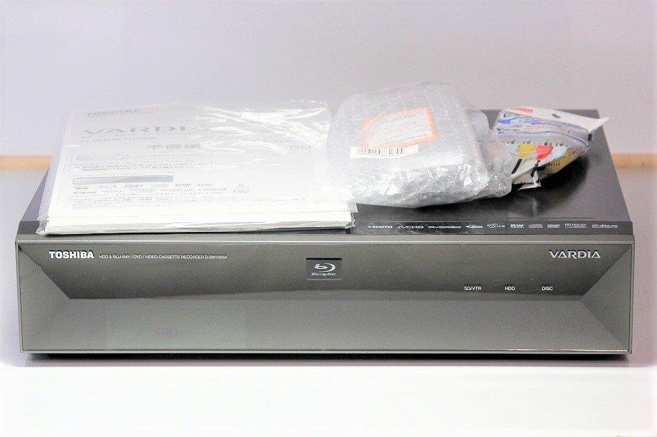 東芝 VARDIA 1TB 2チューナー ブルーレイレコーダー VTR一体型 D-BW1005K【中古品】