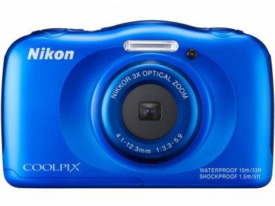Nikon デジタルカメラ S33 防水 1317万画素 S33 ブルー S33BL 【中古品】