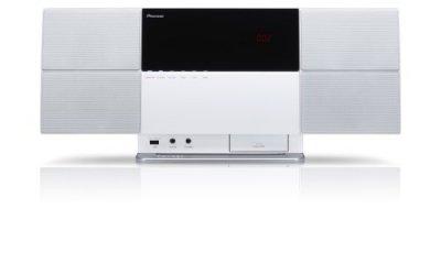 Pioneer CD/DVDミニコンポーネントシステム スタイリッシュオーディオ iPod/iPhone対応 Bluetooth機能搭載 X-SMC2-W【中古品】