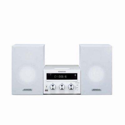 ケンウッド CD/DVD/USB マイクロシステム M-616DV-W【中古品】
