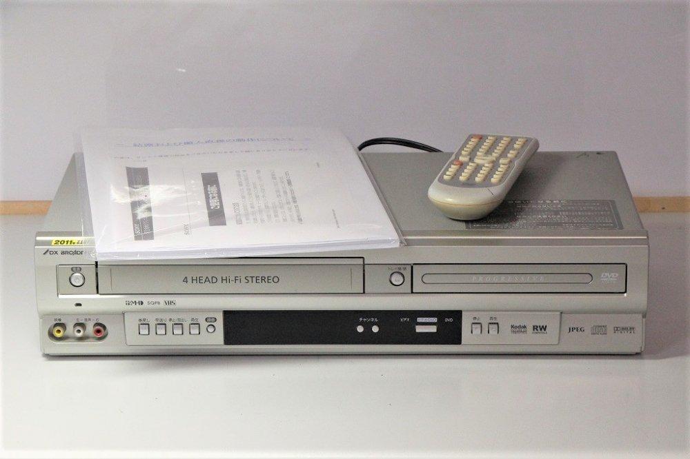 DXアンテナ プログレッシブ出力対応 DVDプレーヤーVHSコンビネーションデッキ DV-140V【中古品】