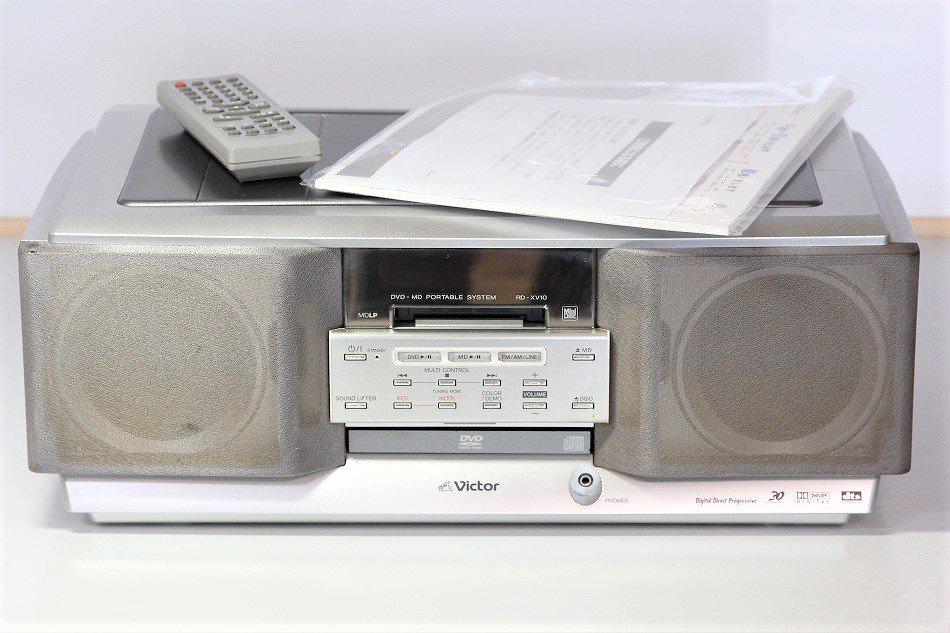 JVCケンウッド ビクター DVD-MDポータブルシステム シルバー RD-XV10-S【中古品】