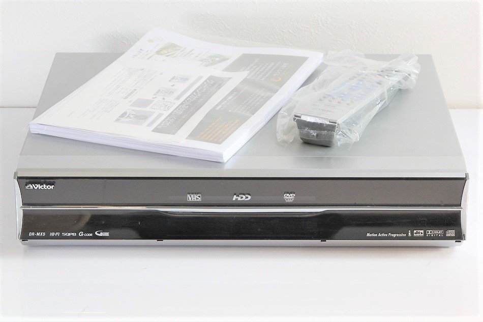 JVCケンウッド ビクター 快録LUPIN VHS/-R/-RW/-RAM/250G HDD内蔵 DVDレコーダ DR-MX5【中古品】