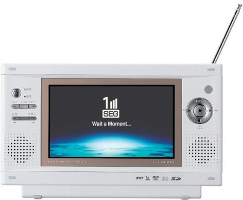 TWINBIRD ワンセグ付防水DVDプレーヤー セラミックホワイト VD-J713CW【!中古品!】